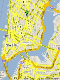NYC book store map