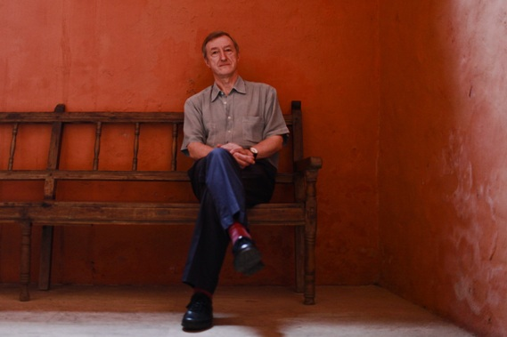 Julian Barnes poses for a photogr
