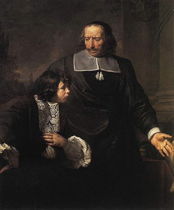 499px-Claude_Lefebvre_-_A_Teacher_and_his_Pupil_-_WGA12629