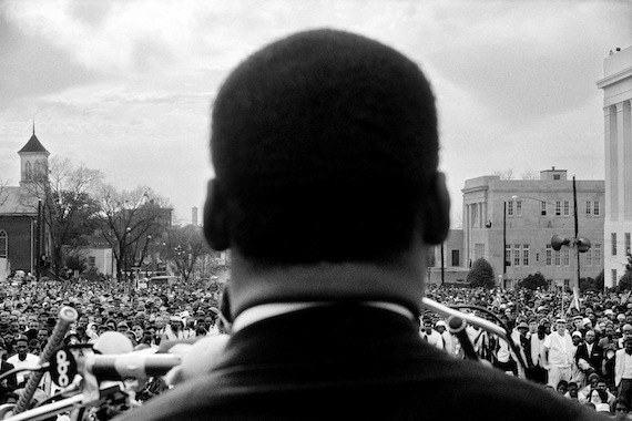 Stephen Somerstein, Dr. Martin Luther King, Jr. speaking to 25,000 civil rights marchers in Montgomery, 1965.