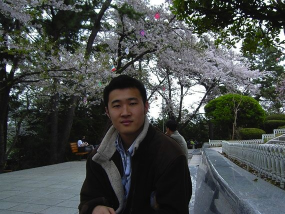In Korea under the cherry blossoms at 23 (24?).