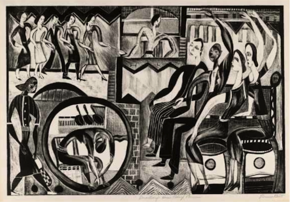 """Florence Kent Hunter, """"Decorations for Home Relief,"""" ca: 1938-9."""